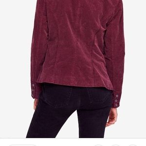 Free People Jackets & Coats - Free People Byron Corduroy Mulberry NWT